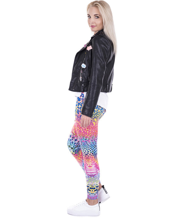 Colored Leopard Printed Legging