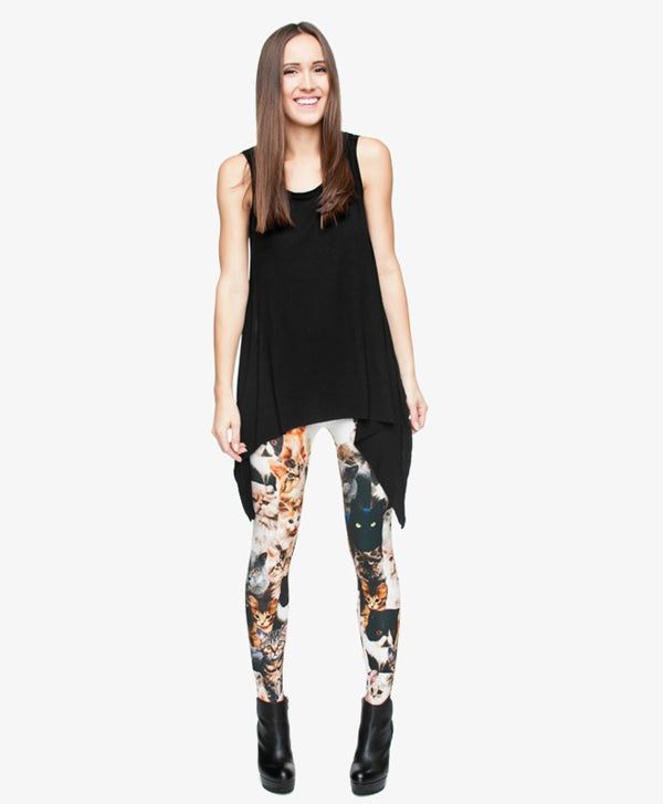 Fashion Cats 3D Printing Legging