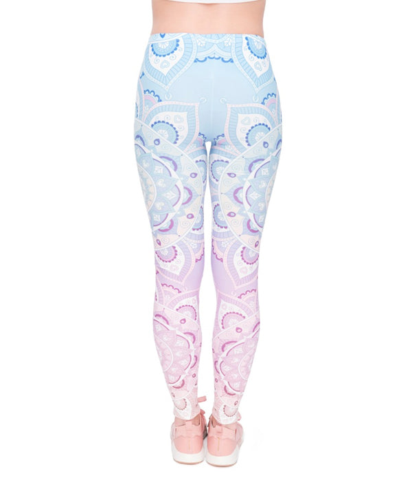 Mandala Gradient Light Printing Legging