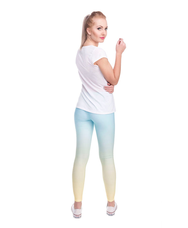 Ombre Yellow Printed Legging