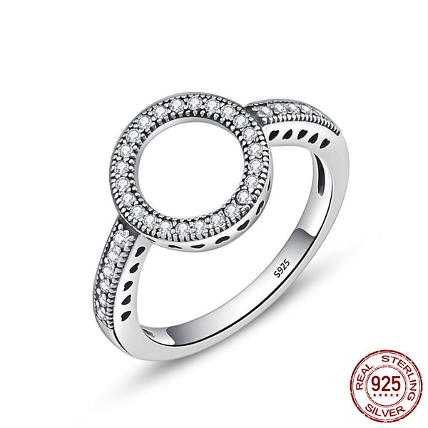 Silver Circle Round Finger Ring