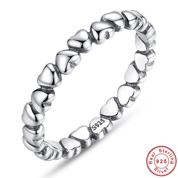 Silver Forever Love Heart Finger Ring