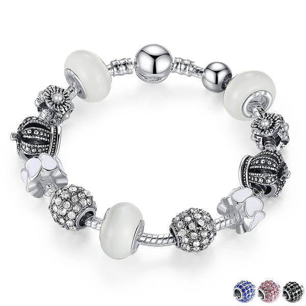 Royal Crown Charm and Crystal Ball