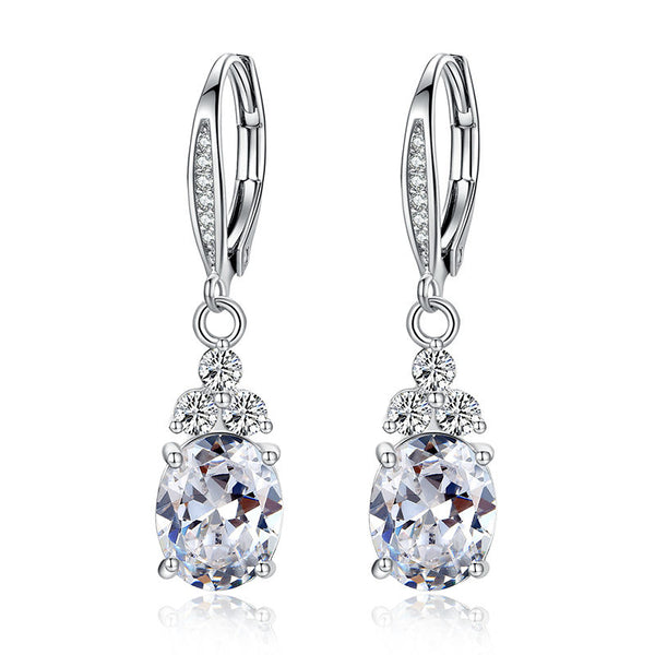 Fashion Copper Zircon Jewelry Drop Earring