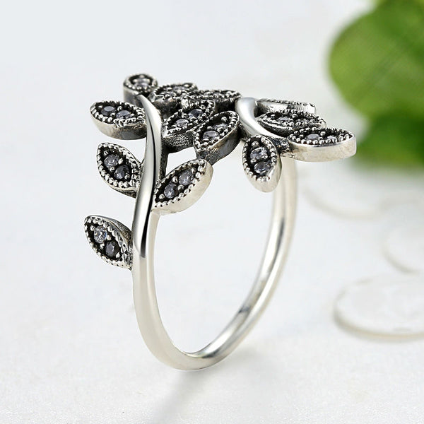 Silver Color Sparkling Ring