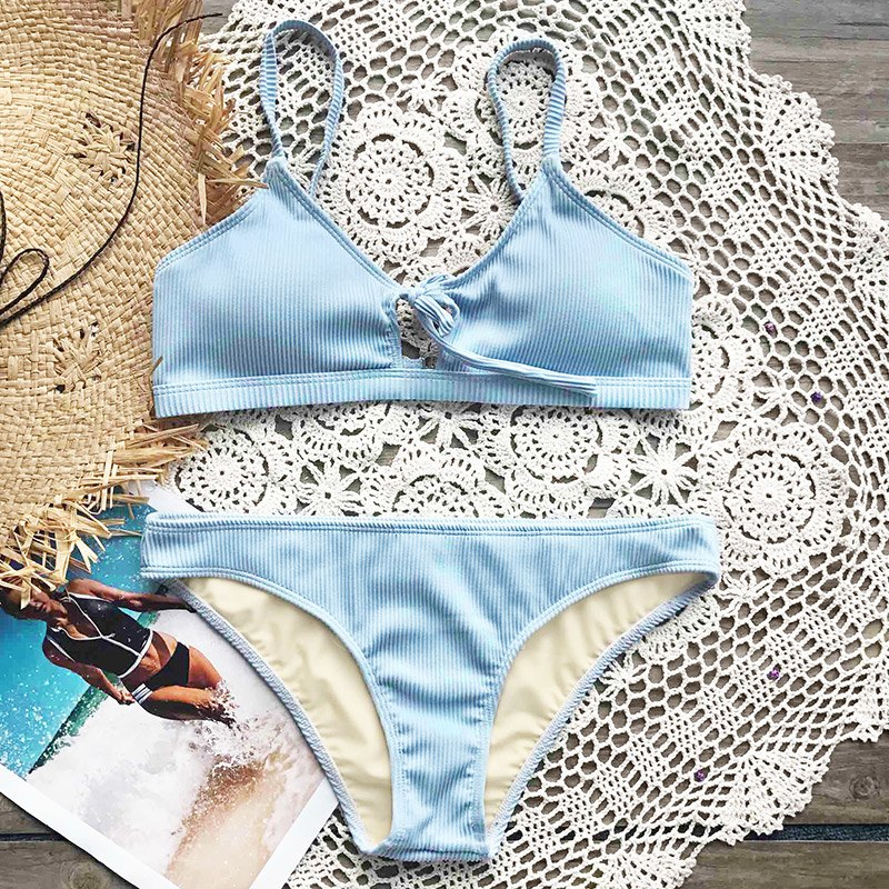 Cloud Tie Bikini Set