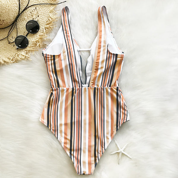 Make Unique Stripe One-piece