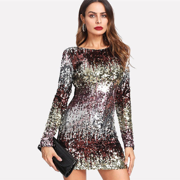 Iridescent Sequin Dress