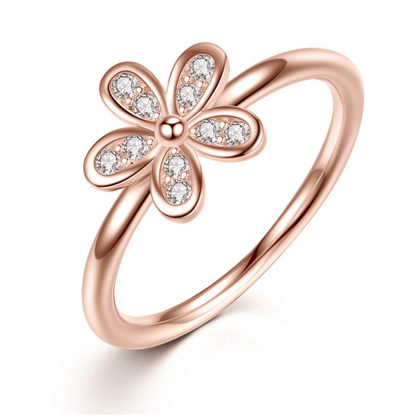 Silver Dazzling Daisy Flower Ring
