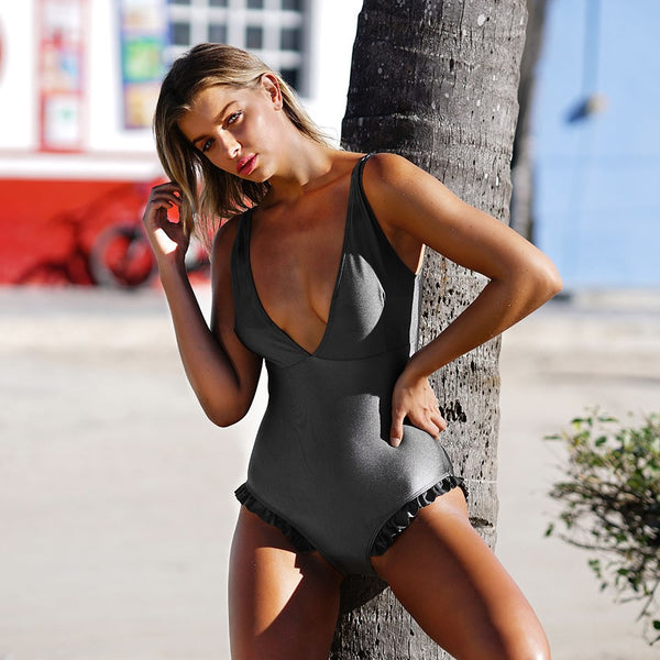 Sweet Smile Solid One-piece