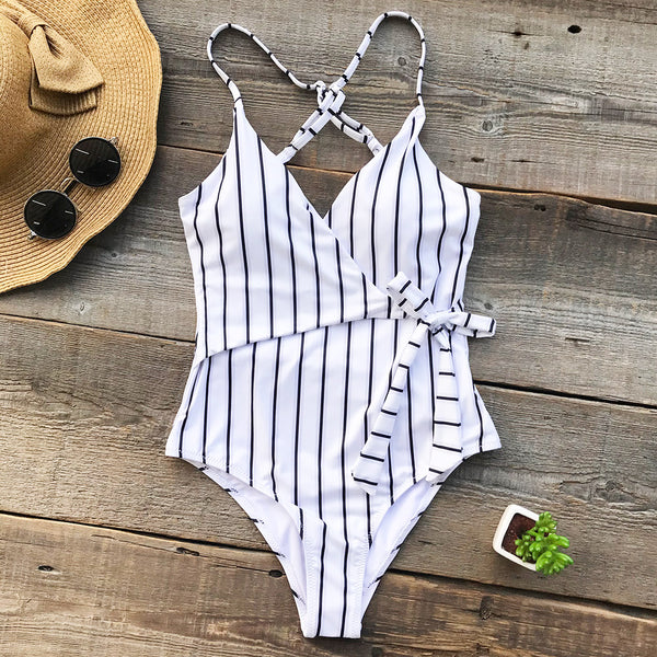 Stay Young Stripe One-Piece
