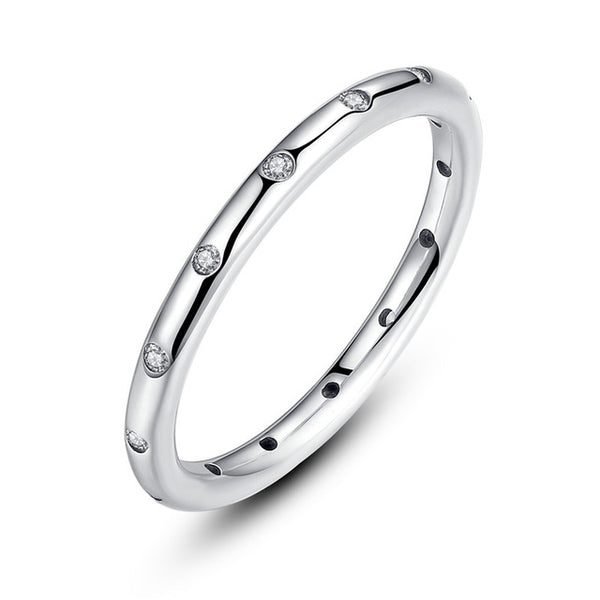 Silver Droplets Stackable Finger Classic Ring