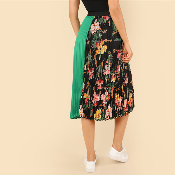 Floral Print Vacation Skirt