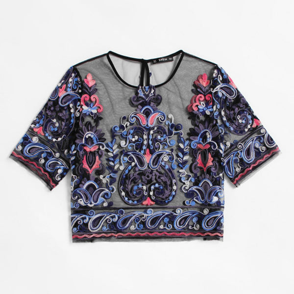 Botanical Embroidered Blouse