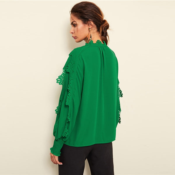 Green Minimalist Blouse