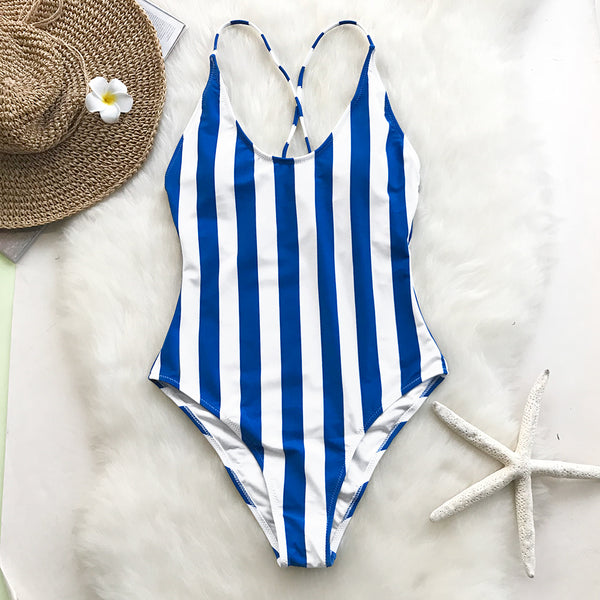 Nature Stripe One-piece Swimsuit