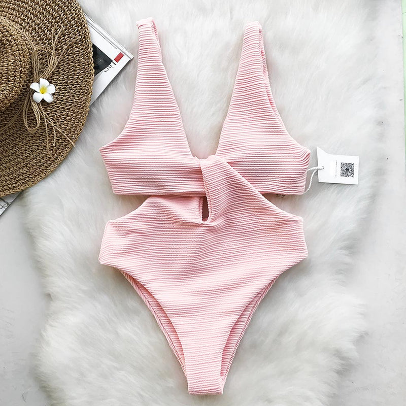Pink Shine For U Solid One-piece