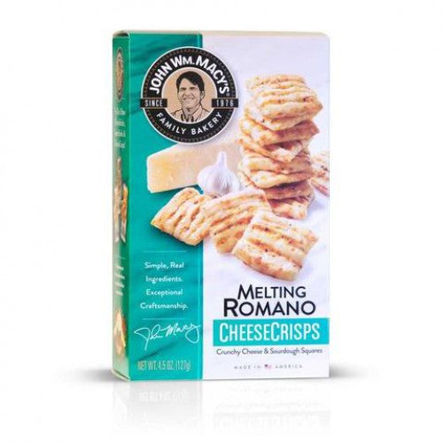 John Wm Macy's Melting Romano Cheese Crisp