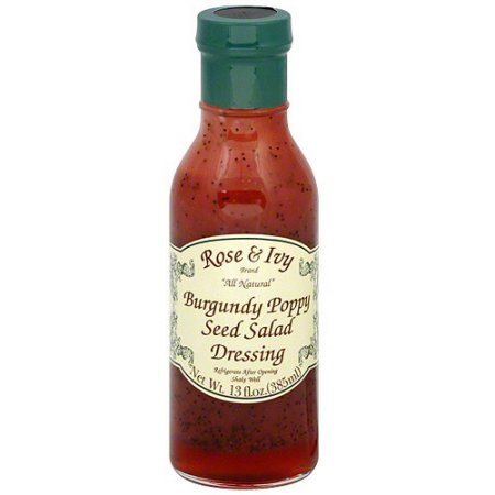 Rose & Ivy Burgundy Poppy Seed Salad Dressing