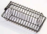 Deluxe non-stick chicken and rib tumble basket. Attaches to rotisserie.