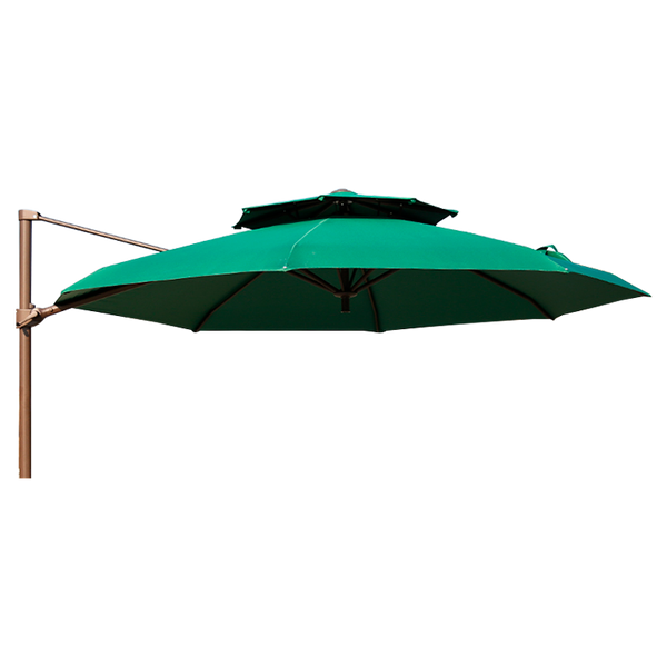 Outdoor Cantilever Garden Umbrella Circle or Square 3m