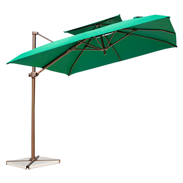 Outdoor Cantilever Garden Umbrella Circle Square 2.5m