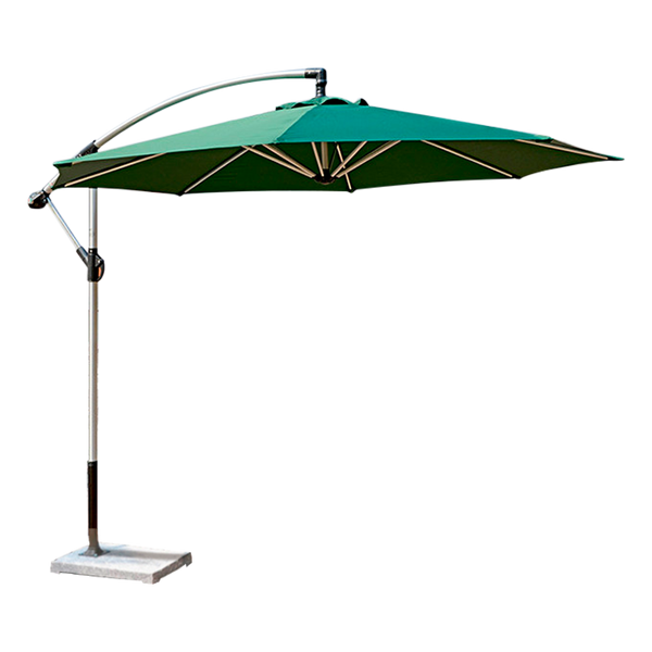 Outdoor Cantilever Garden Umbrella Circle 2.7m