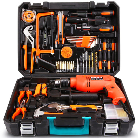 Household Tools Set With Power Drill