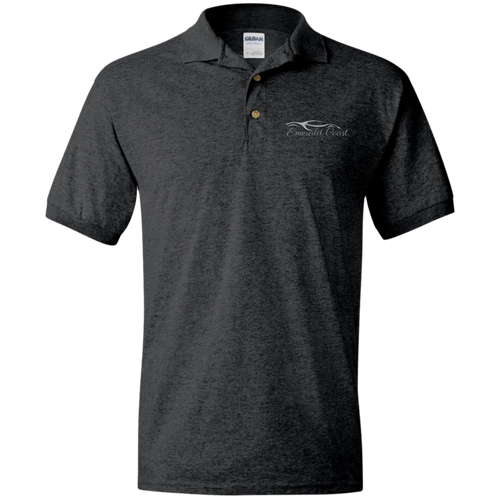 Jersey Polo Shirt- ECEC Gray Embroidery (FREE SHIPPING)