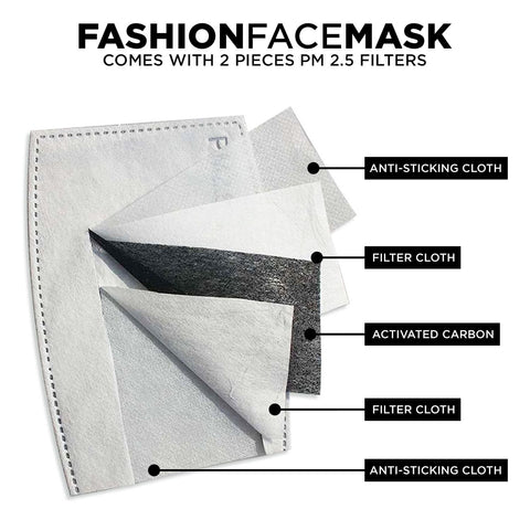 Fashion Face Mask With PM 2.5 Carbon Filter