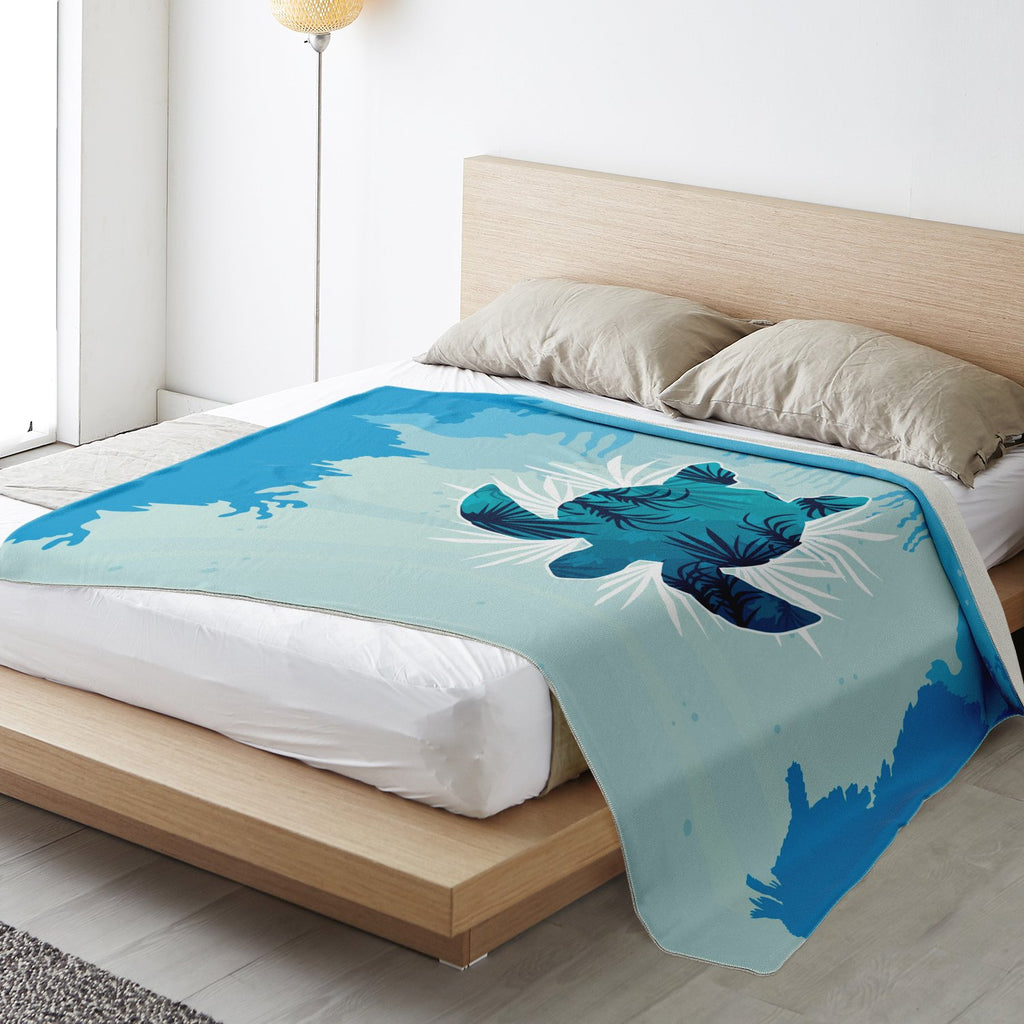 Microfleece Blanket As Bed Cover