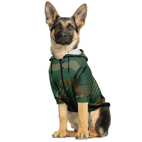 Green Camouflage Fashion Dog Zip-Up Hoodie - AOP Worn By German Shepherd