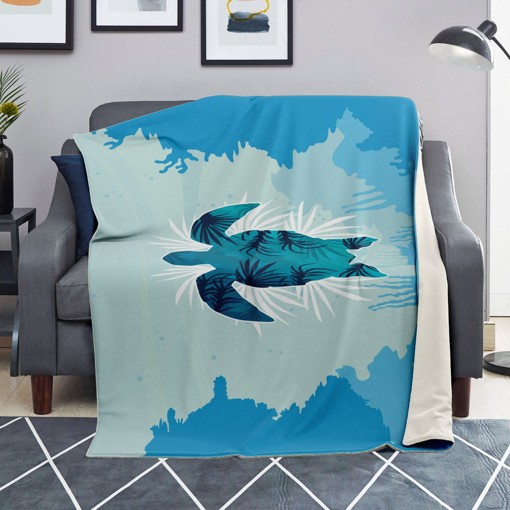 Microfleece Blanket On Sofa