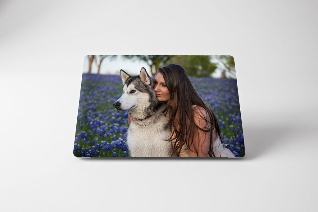girl and dog cover for macbook