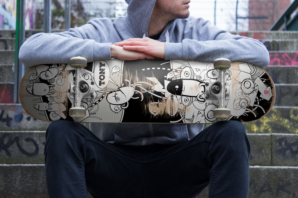 personalized graffitti skateboard deck