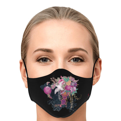Japanese Orchids Fashion Face Mask With PM2.5 Carbon Filter - Get Set Style Metro