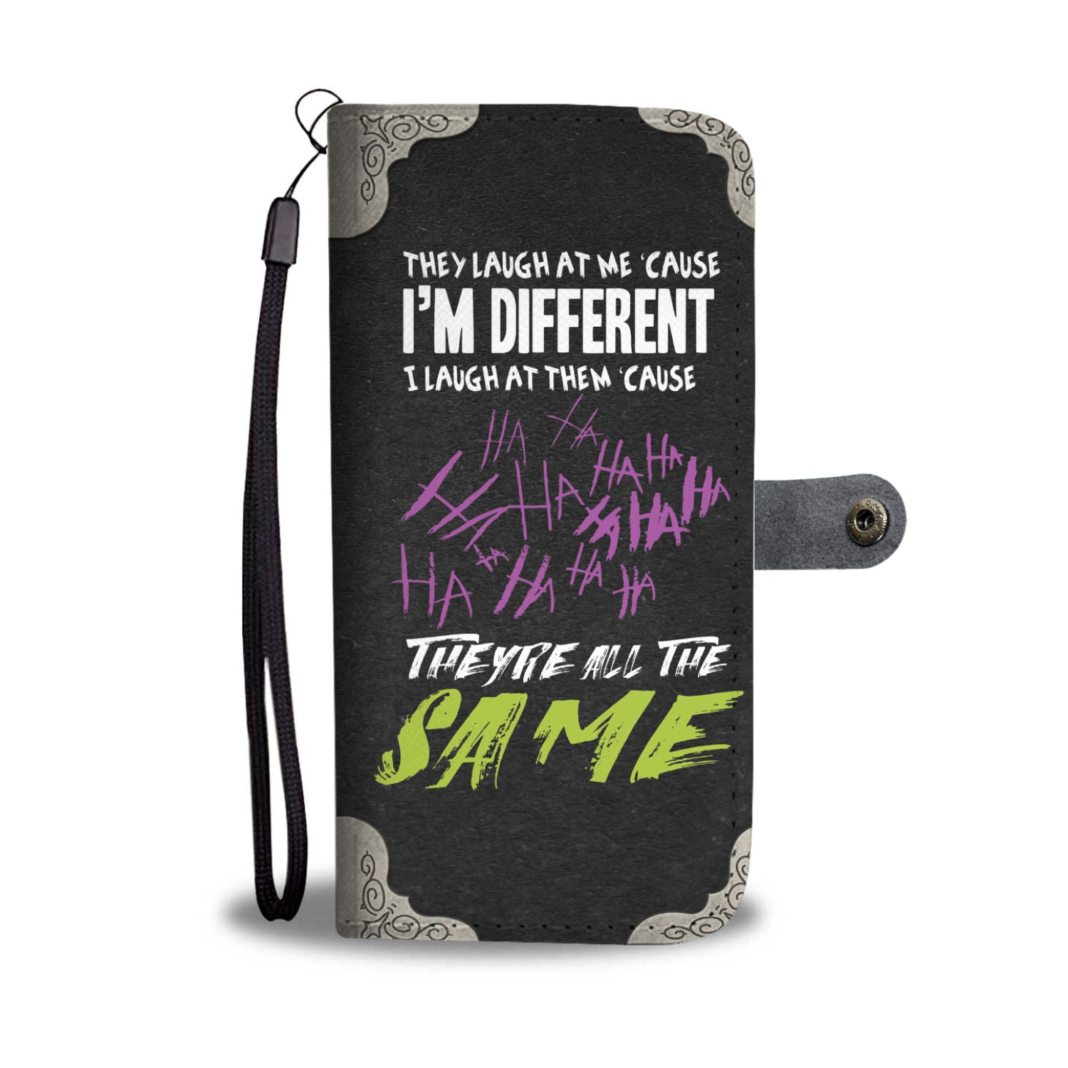 I Am Different They Are The Same Custom Designed RFID Wallet Phone Case