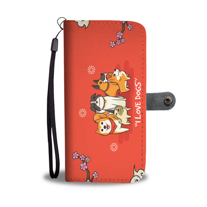Love Dogs RFID Wallet Phone Case