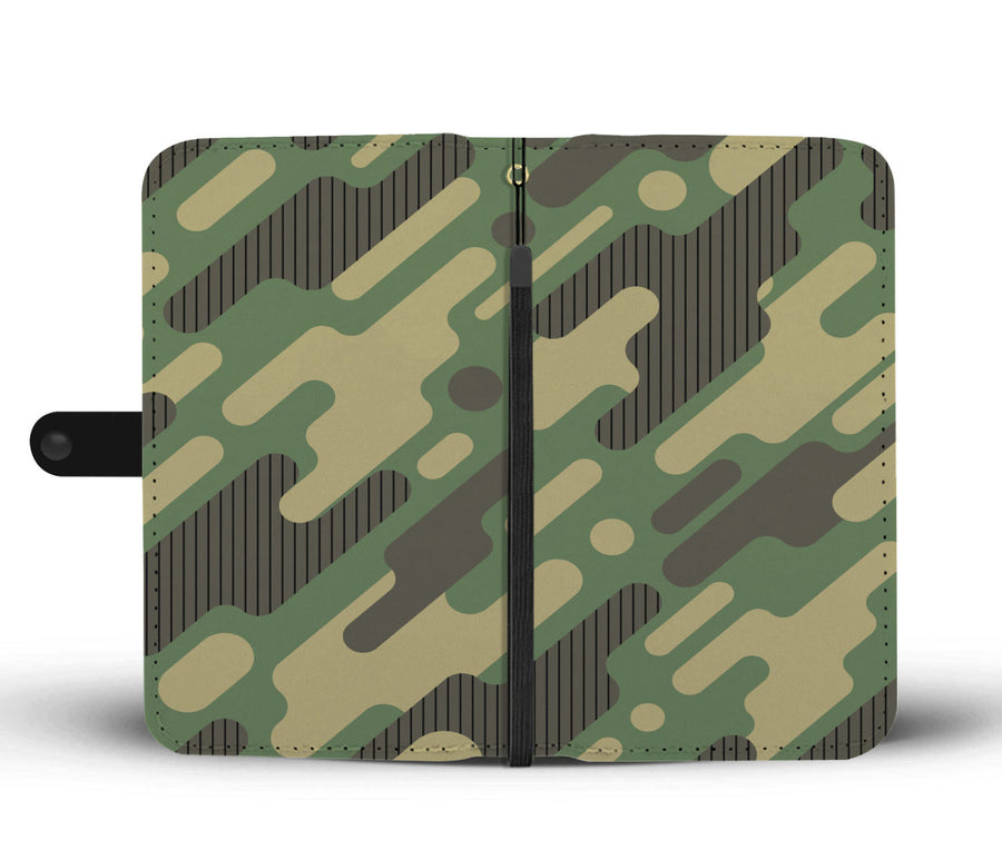 Futuristic Camouflage Army Pattern RFID Wallet Phone Case
