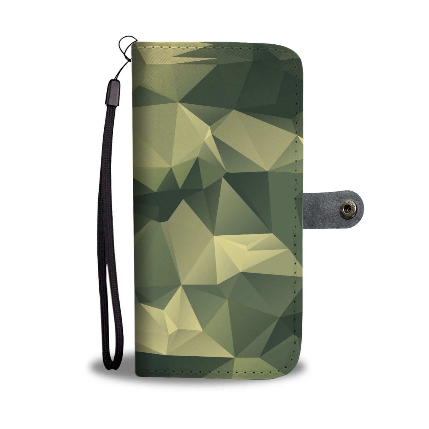 Polygonal Camouflage Army Pattern RFID Wallet Phone Case - Get Set Style Metro