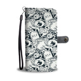 Halloween Ghost Pattern Wallet Phone Case - Get Set Style Metro