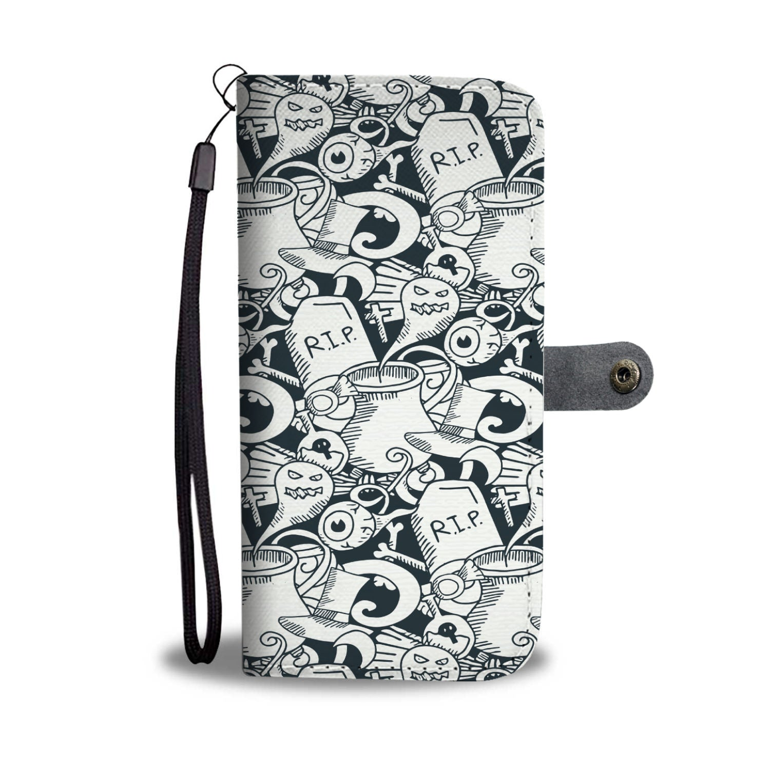 Halloween Ghost Pattern Wallet Phone Case