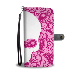 Awesome Flower Pink Skull Design Wallet Phone Case - Get Set Style Metro