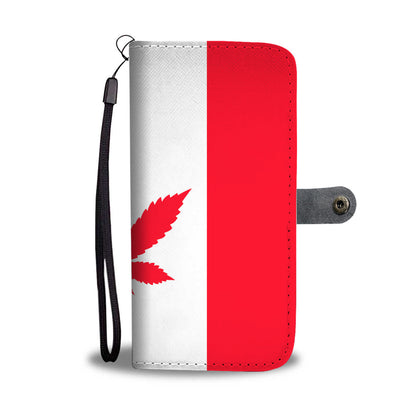 Awesome Canada Weéd Flag Wallet Phone Case