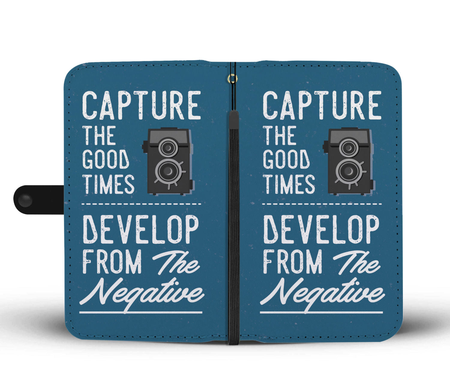 Capture The Good Times Photographer Custom Design RFID Wallet Phone Case