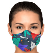 Colourful Leaves Fashion Face Mask With PM2.5 Carbon Filter - Get Set Style Metro