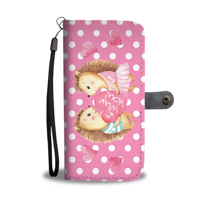 Hedgehog Valentines RFID Wallet Phone Case