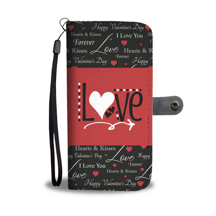 One Love Design RFID Wallet Phone Case