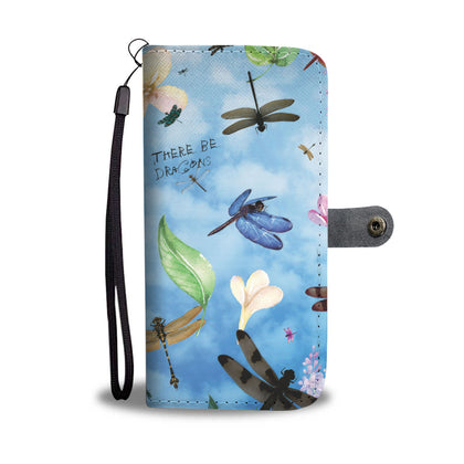 Whimsical Dragonfly Design RFID Wallet Phone Case