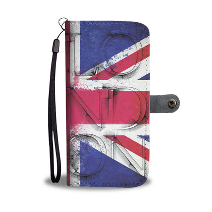 London UK Flag RFID Wallet Phone Case